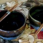 Brown Blue Noodle Bowls