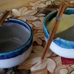 White Blue Noodle Bowls
