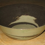 Brown White Clay Bowl