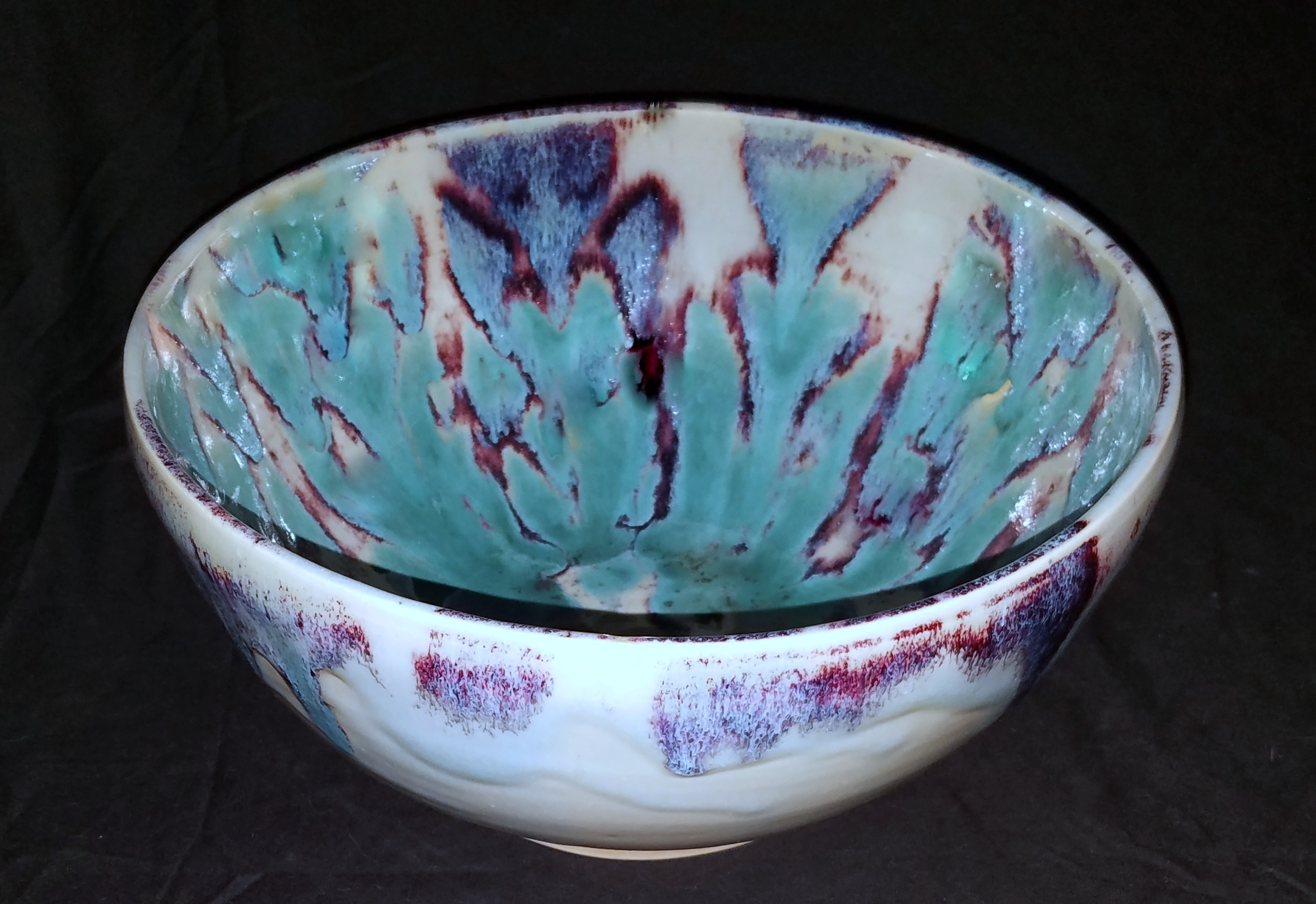 Large Oribe Blue Bowl