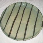 Green Stripe Plate